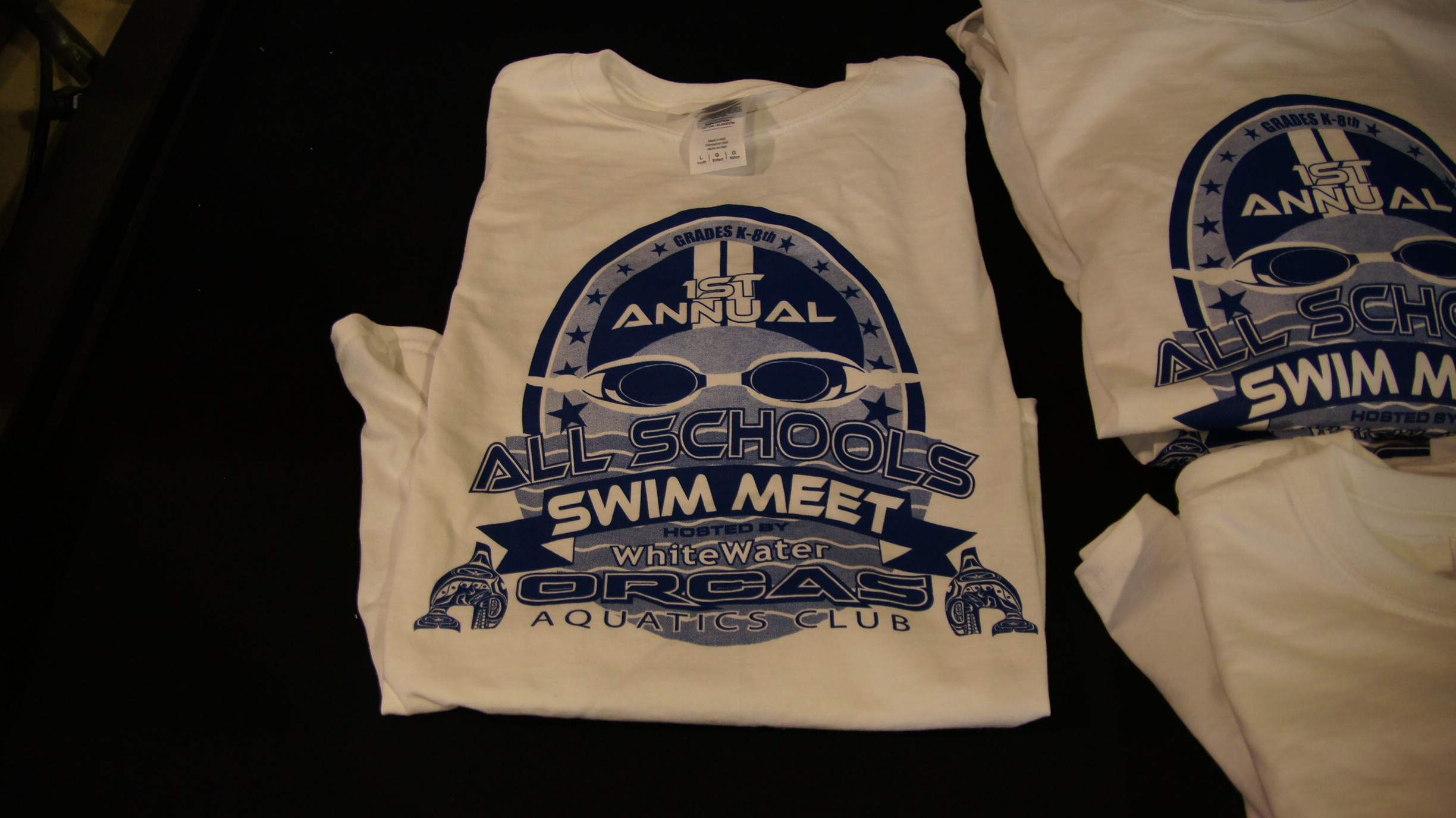 Screen printing for white water aquatics seattle screen for It s all custom t shirts and embroidery atlanta